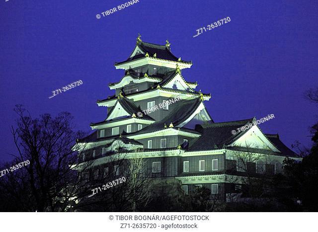 Japan, Okayama, Okayama-jo, Castle,