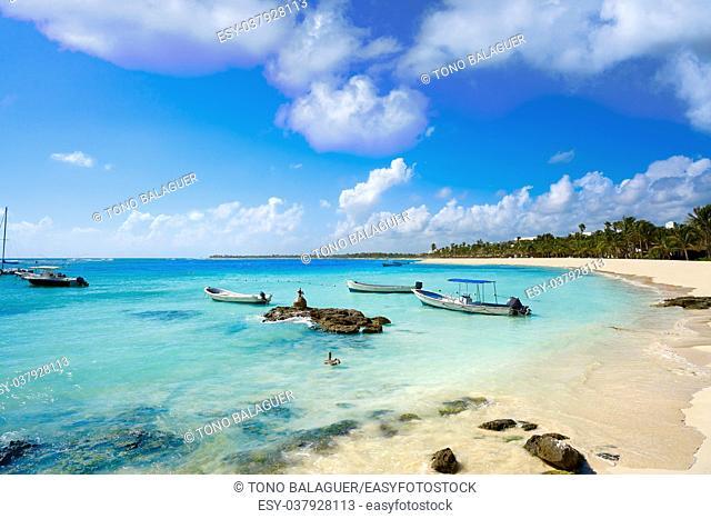 Akumal bay Caribbean beach in Riviera Maya of Mayan Mexico