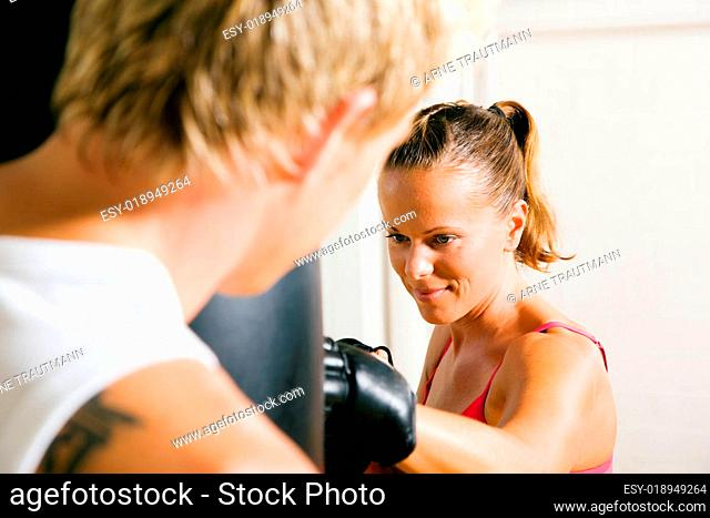 Kampfsport-Paar