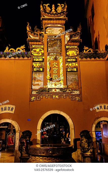 Changsha, Hunan province, China - Night view of Huogongdian, the famous traditional Changsha snack restaurant
