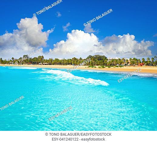 Burriana beach in Castellon of Mediterranean Spain