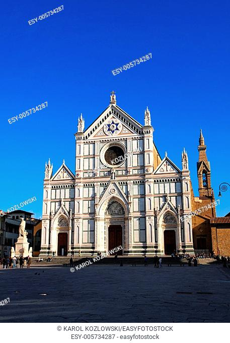 Famous church Santa Croce in Florence, Tuscany, Italy