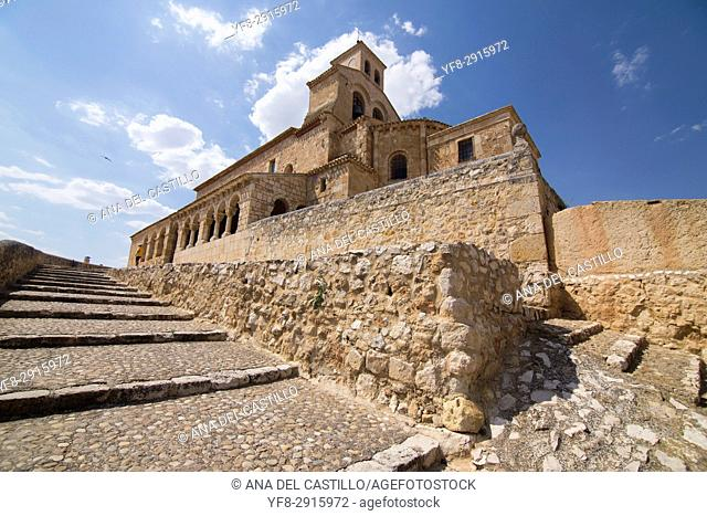 Our Lady of Rivero church in San Esteban de Gormaz village Soria province Castile Leon Spain