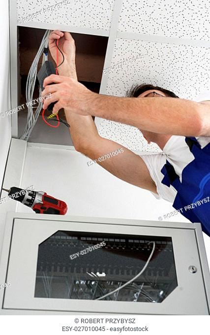 electrical repair. electrician. installation of ceiling. electrician repairs installations