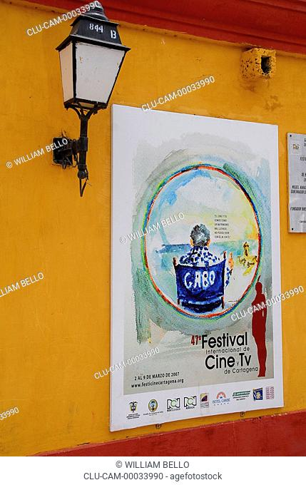 Poster Festival the International of Cinema and Television of Cartagena, Bolivar, Colombia