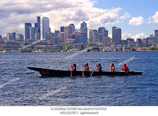 InterTribal Canoe Journey, Gas Works Park, Seattle, Washington