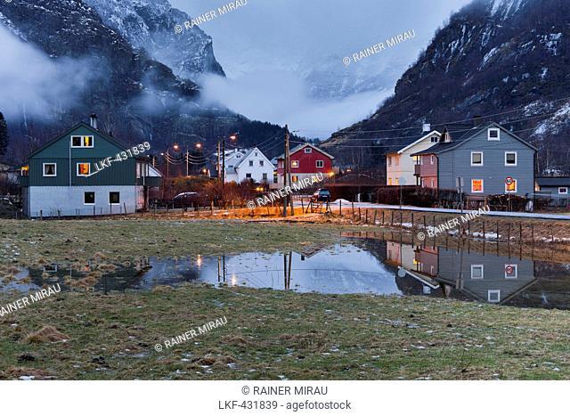 Houses in Dalen near Aurland, Sogn og Fjordane, Norway