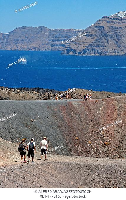 Nea Kameni Islet, Volcano Island, Santorini, Greece