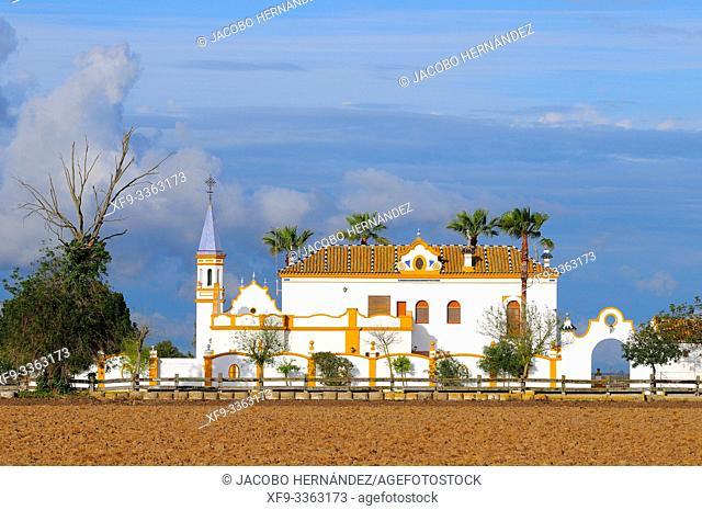 Cortijo de Isla Mínima. Guadalquivir river. Sevilla province. Andalusia. Spain