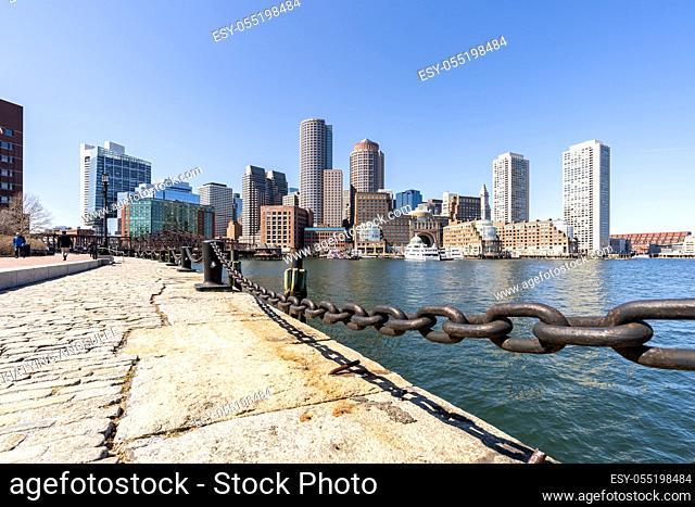 Boston Downtown skylines building cityscape at Boston city, MA, USA