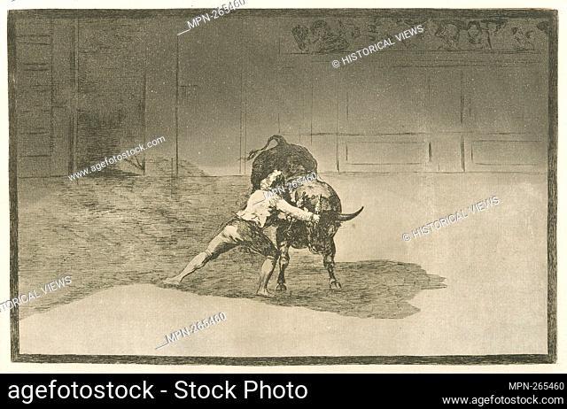 El famoso Martincho poniendo banderillas al quiebro. Avery, Samuel Putnam, 1822-1904 (Collector) Goya, Francisco (1746-1828) (Artist)