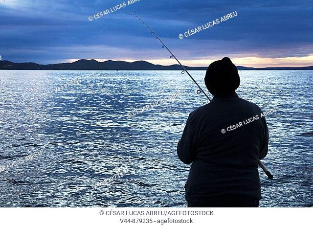 Fishing in Zadar, Dalmatia, Croatia