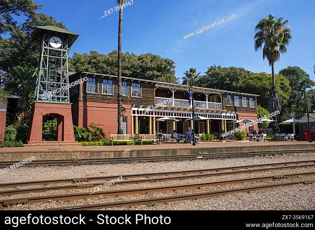 Rovos Rail Station in Capital Park in Pretoria Tshwane South Africa. The Rovos Rail luxury train travelling between Cape Town and Pretoria in South Africa