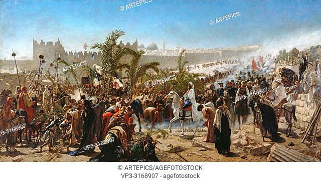 Gentz Karl Wilhelm - Einzug Des Kronprinzen Friedrich Wilhelm Von Preussen in Jerusalem In 1869 1