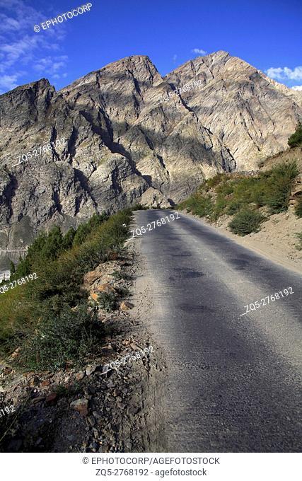 A road leading towards Ladakh from Jispa, Himachal pradesh, India