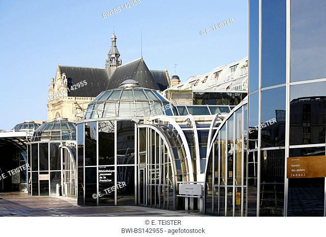 Les Halles and Saint Eustache, France, Paris