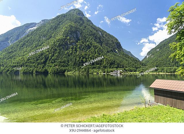 lake Hallstätter See, Salzkammergut region, Upper Austria, Austria