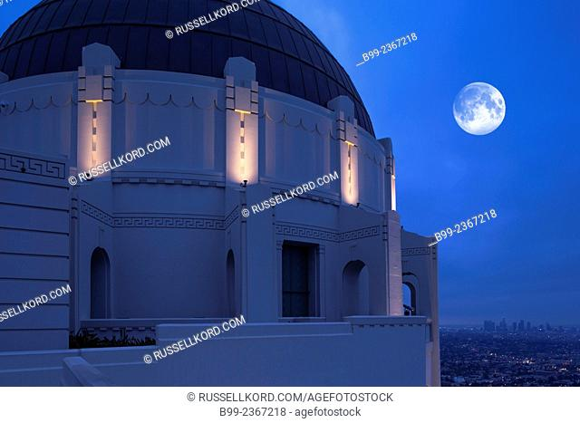 Griffith Observatory Mount Hollywood Griffith Park Los Angeles California Usa