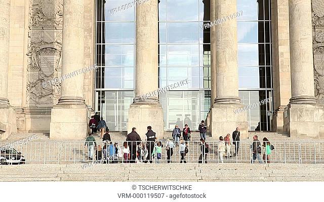 Visitors Entrance, German Bundestag, Berlin, Germany