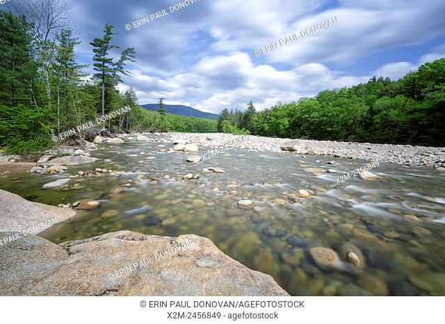 East Branch of the Pemigewasset River in Lincoln, New Hampshire USA during the spring months