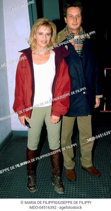 Italian Tv Host Maria De Filippi With Her Brother And Italian Journalist Giuseppe De Filippi Stock Photo Picture And Rights Managed Image Pic Mdo 04516392 Agefotostock