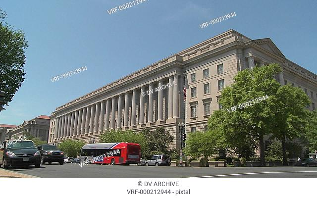 The U.S. Treasury Building in Washington DC