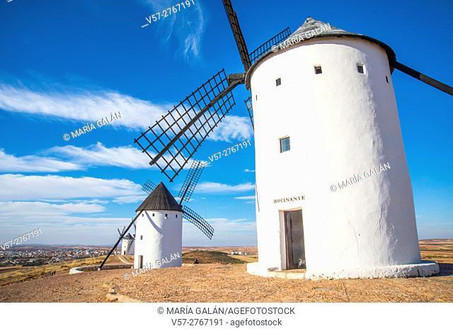Windmills. Alcazar de San Juan, Ciudad Real province, Castilla La Mancha, Spain