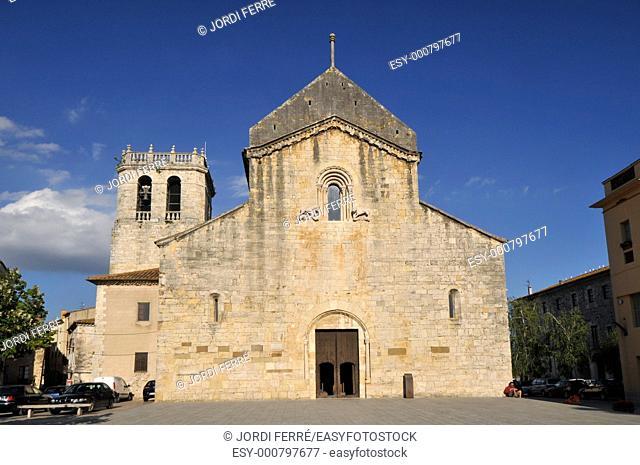 10 th century Monastery of Sant Pere de Besalú, Catalonia, Spain, Europe