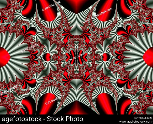 Fabulous symmetrical pattern for background. Collection - Magical Satin. Artwork for creative design, art and entertainment