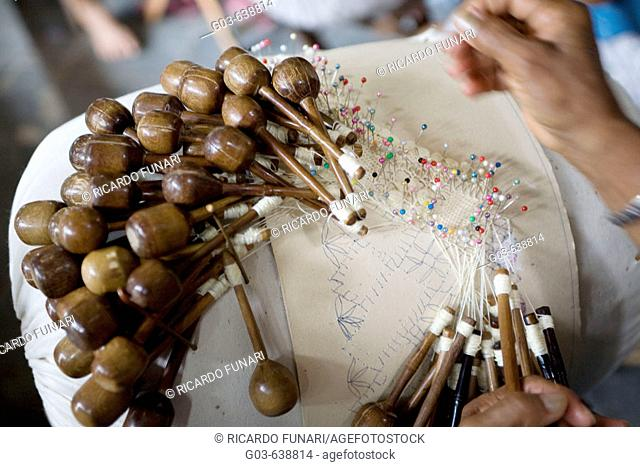 Craftsmanship, lace bobbin ( renda de bilro ), cultural traditions from Northeastern Brazil