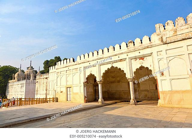 Hammam and Mosque in RED FORT complex in Delhi, India