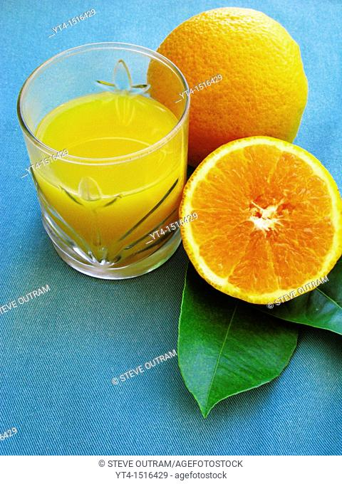A Glass of Fresh Orange Juice