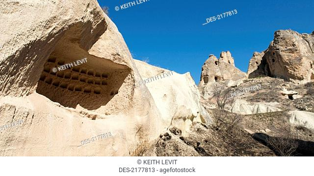 Pigeon House At Pancarlik Church And Monastery, Nevsehir Turkey