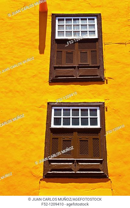 Traditional architecture, Santa Cruz de la Palma, La Palma, Canary Islands, Spain