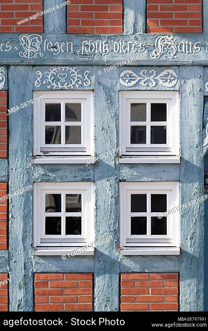 Achim, half-timbered window at the house Cluever