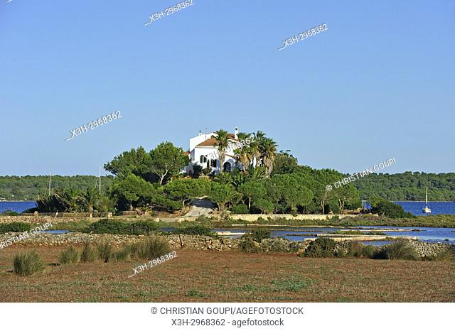 villa on an inland near Fornells, Menorca, Balearic Islands, Spain, Europe