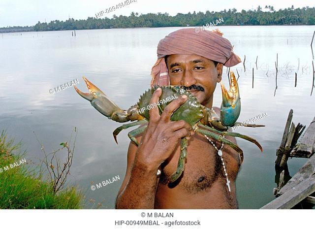 CRAB FISHING IN KUMBALANGHI NEAR KOCHI