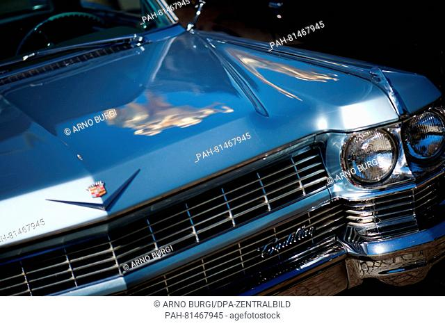 The emblem of a Cadillac (series 62) seen during a photocall for the USCar Convention, inDresden, Germany, 23 June 2016