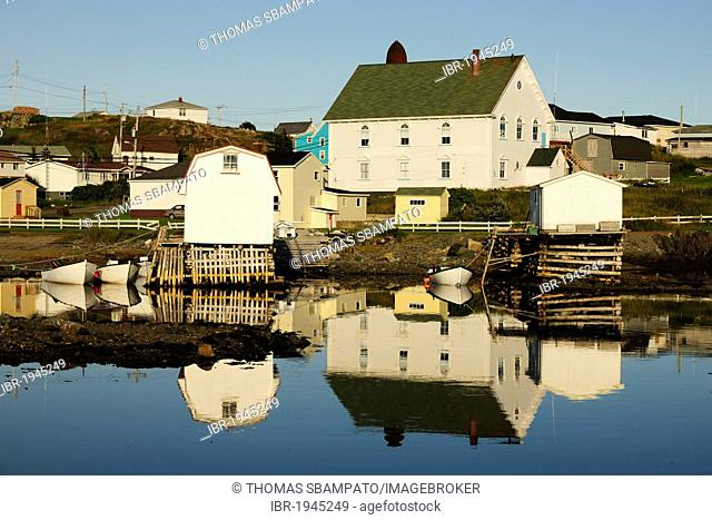 Houses and harbour of Twillingate, Newfoundland, Canada, North America