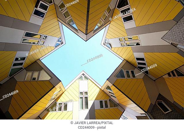 Cubic Houses (Kubuswonig, Kijk-Kubus) by Piet Blom. Rotterdam. Netherlands