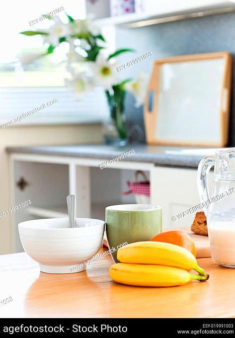 Fresh food lying on the table