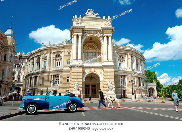 Opera and ballet theater, Odessa, Ukraine, Eastern Europe