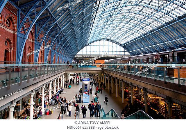 England. London. Interior of St. Pancras International Station