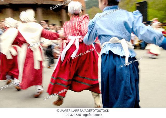 Basque folklore. Fiestas de la Cruz. Legazpi. Gipuzcoa. Basque Country. Spain