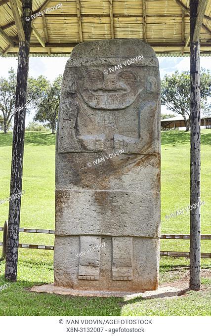 Archaeological site Alto de los Idolos near San Agustin, Colombia