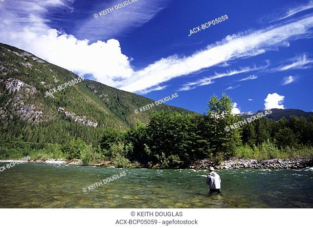 Flyfishing scenic, Dean river, British Columbia, Canada