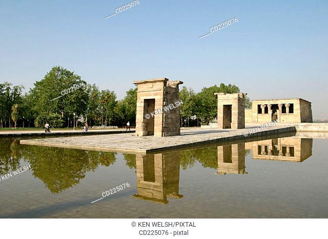 Temple of Debod. Madrid. Spain