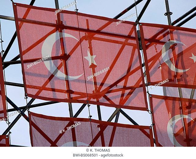 turkish flagg exhibition Kanak Attack at the Museumsquartier 2005, Austria, Vienna, 7. District, Vienna - Museums quarter (MQ)
