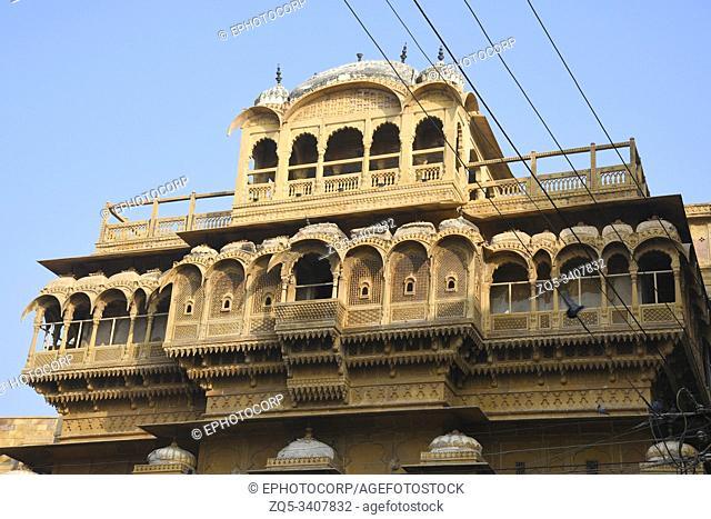 Haveli inside Golden Fort at Jaisalmer in Rajasthan, India