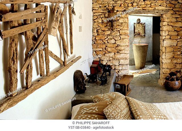Bedroom, reformed house, Ibiza, Spain